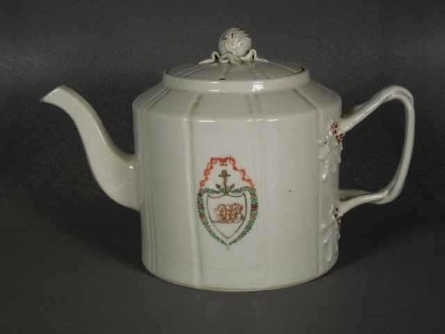 12: Chinese Export 18th Century Armorial Teapot