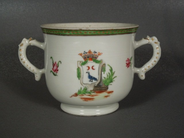 13: Chinese Export 18th Century Armorial Sugar Bowl
