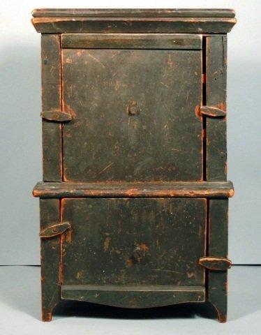 14: Antique American Miniature Step Back Cupboard