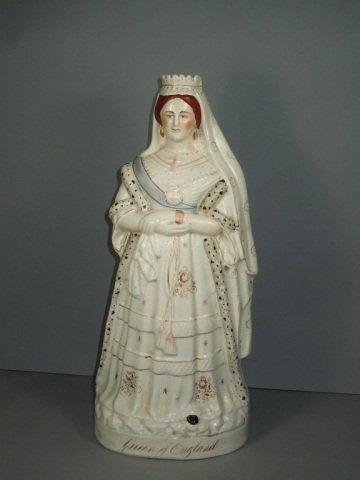 17: English Staffordshire Figure of Queen Victoria