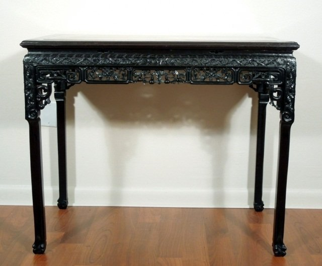 157: Chinese Fine Antique Carved Rosewood Table