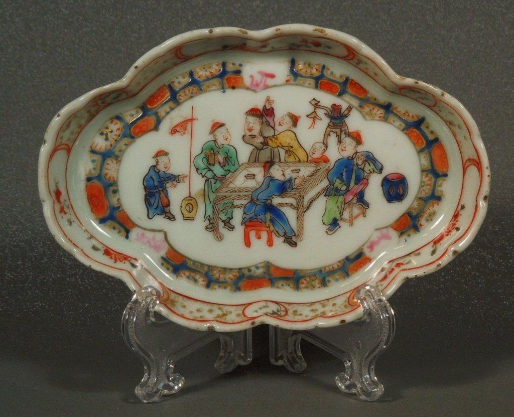 1: Chinese Porcelain 18th Century Mandarin Tray