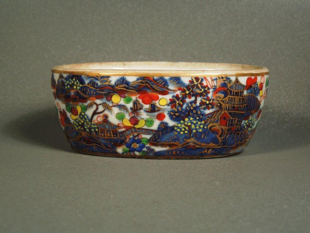 3: Fine 19thc. Chinese Export Clobbered B/W Patty Pan