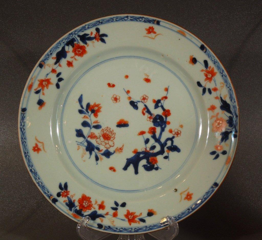 4: Antique Chinese Imari Porcelain Plate Circa 1760