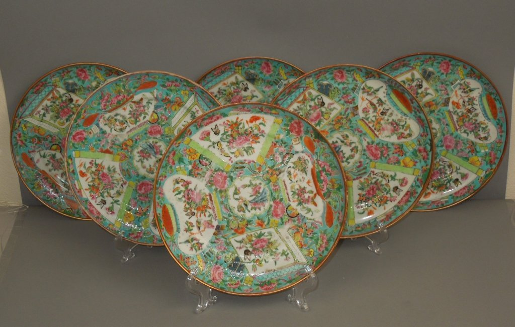 17: Six Chinese Daoguang Period 1821-50 Plates
