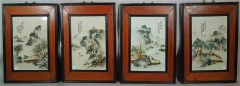 182: Four Chinese Porcelain Republic Period  Plaques