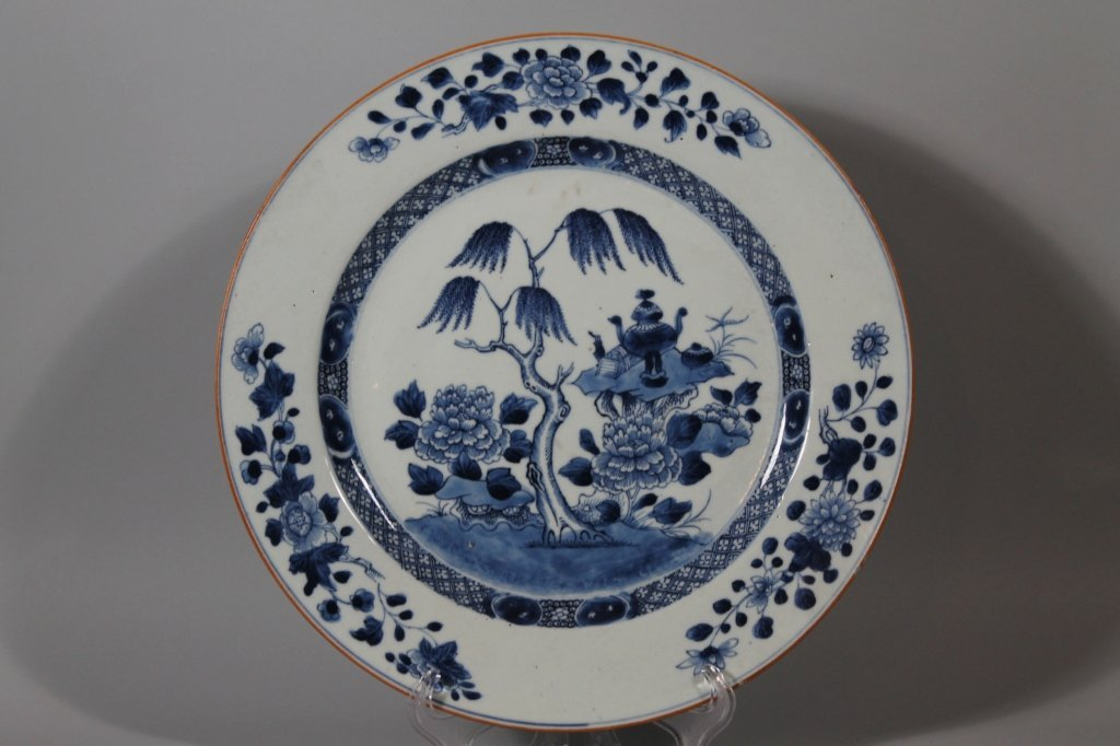 4: Chinese 18th c.  Blue and White Charger