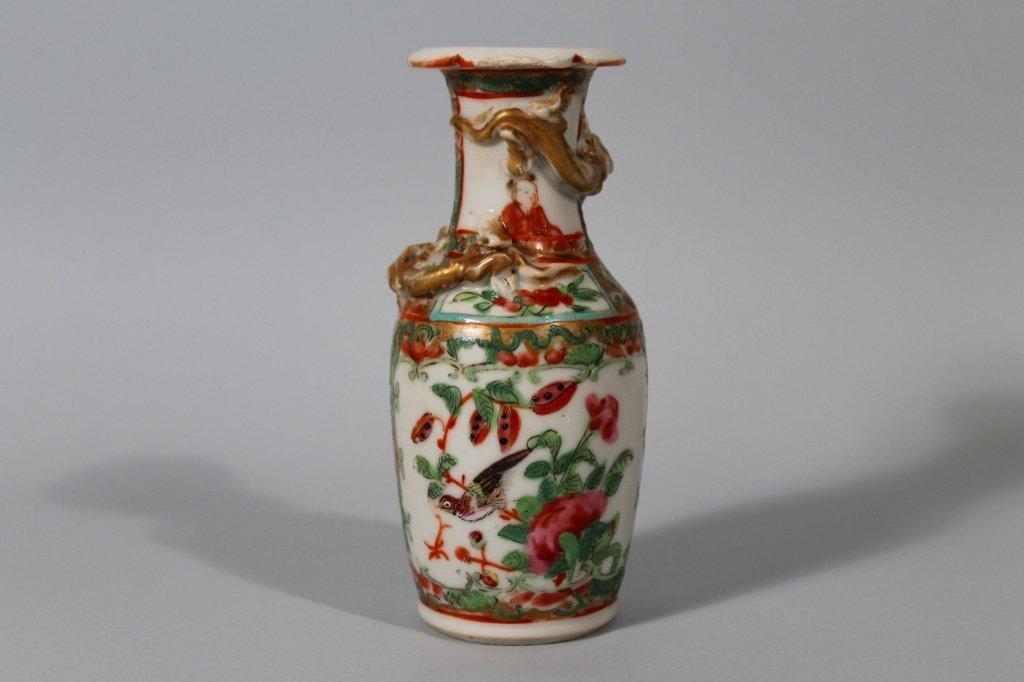 9: Chinese Export Rose Medallion Baluster Vase