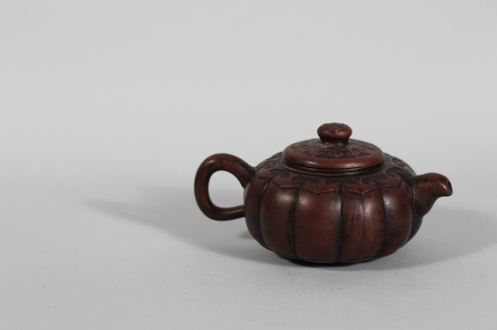 14: Antique Chinese Yixing Seal Marked Teapot