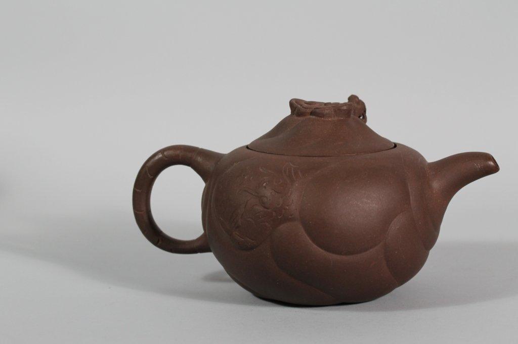 16: Chinese Dragon Yixing Seal marked Teapot