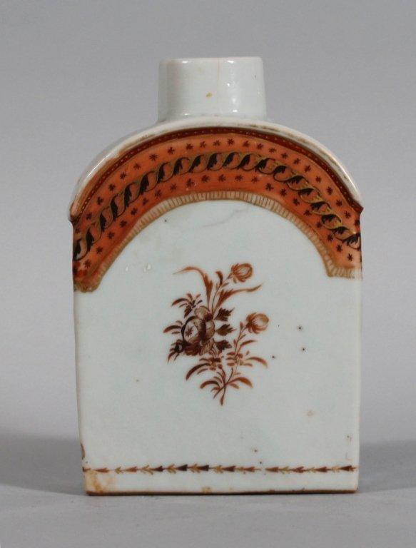 22: Chinese Export Porcelain Tea Caddy circa 1800