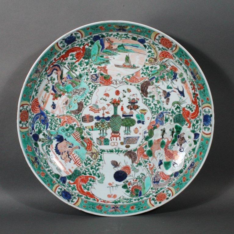 272: Chinese Kangxi (1662-1722)  Famille Verte Charger