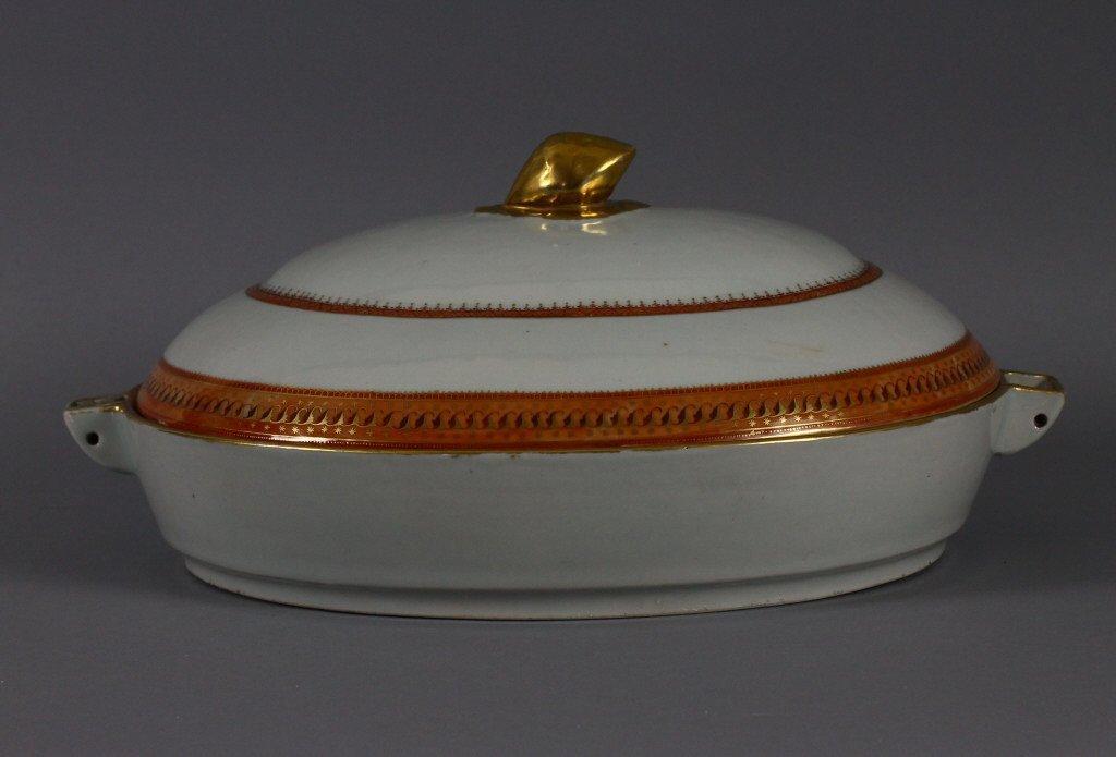 Chinese Export Covered Hot Water Dish circa 1820