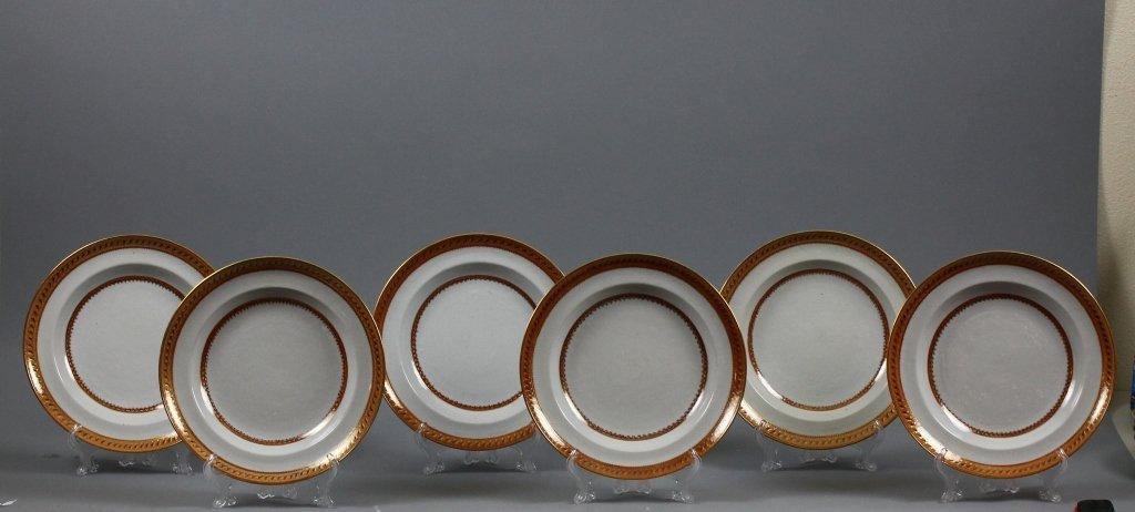 Six Chinese Export 19th century Plates circa 1820
