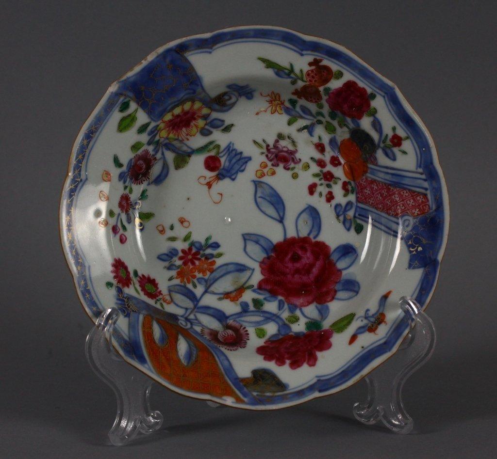 Chinese 18th century B/W Enamel Pudding Dish