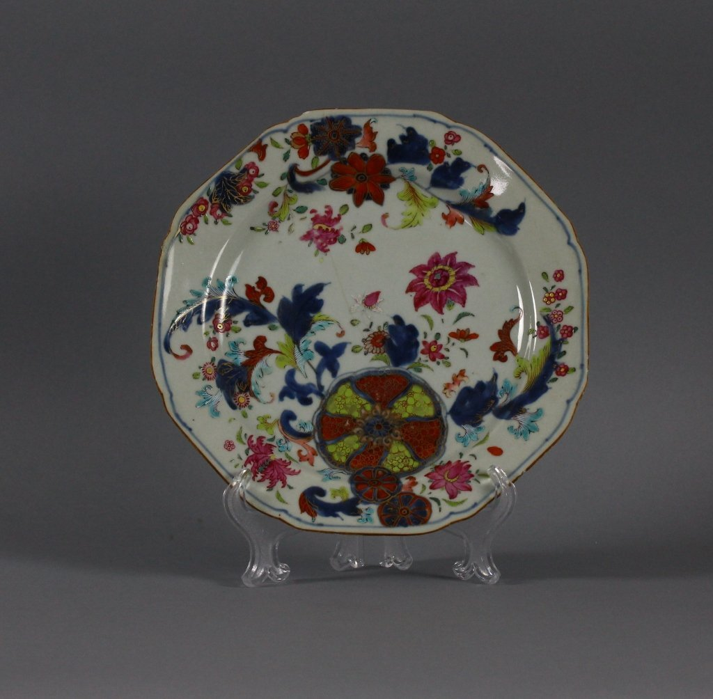Chinese Export 18th century Tobacco Leaf Plate