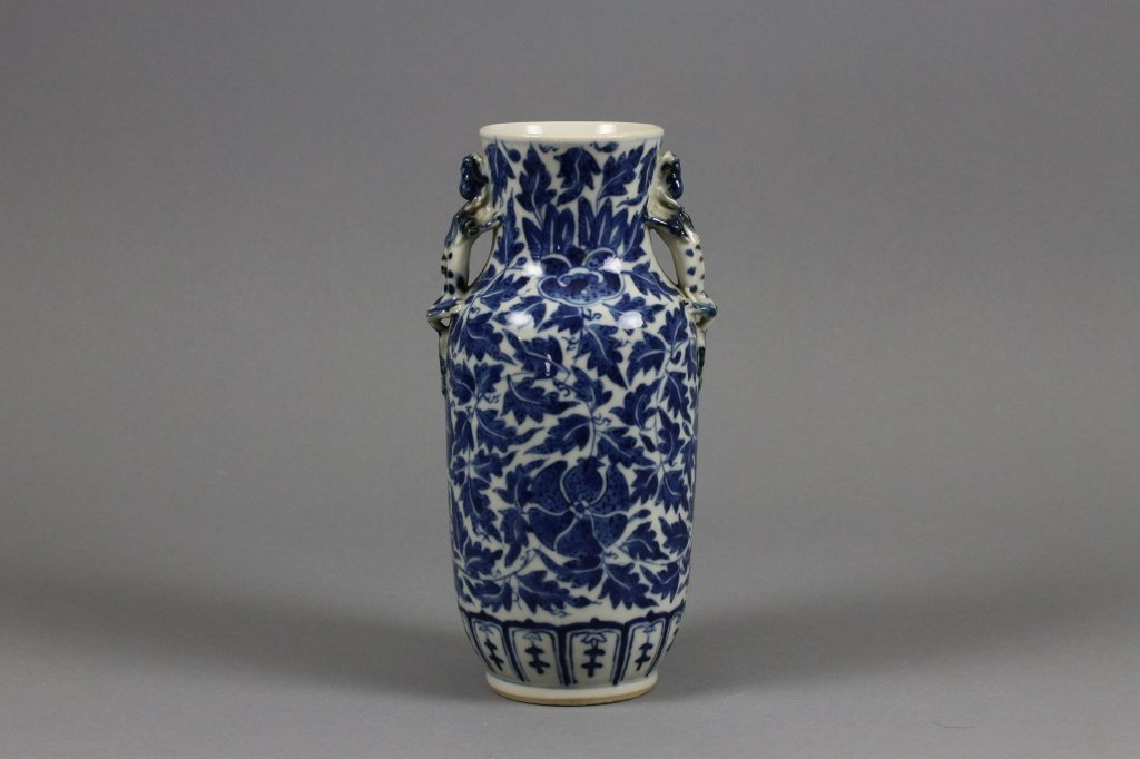 Antique Chinese Blue and White Baluster Vase