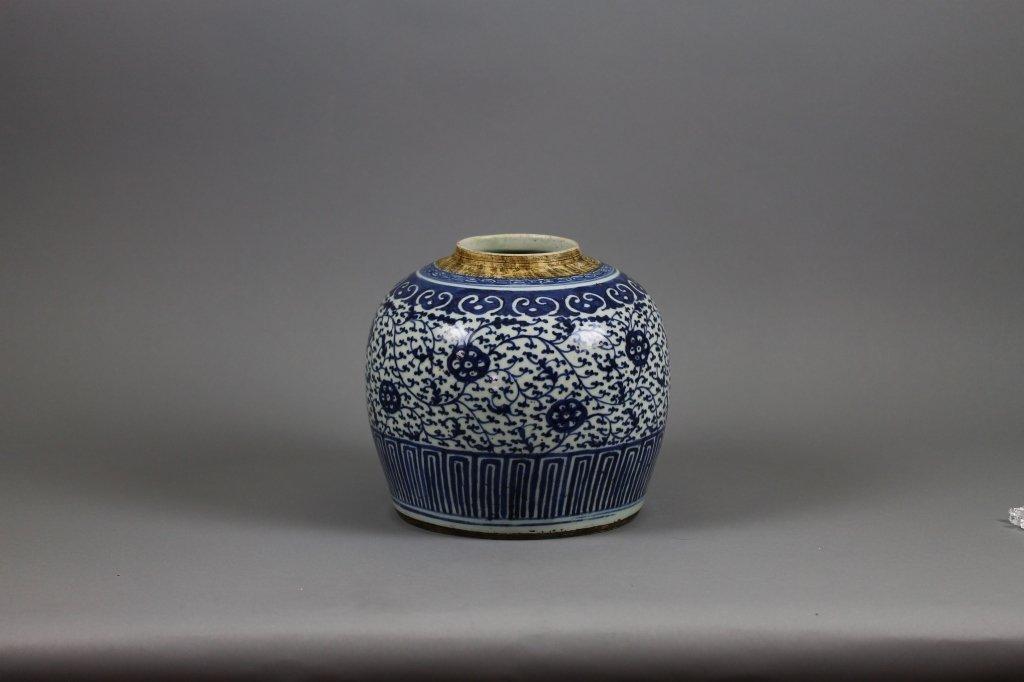Kangxi Period Blue and White Chinese Large Jar