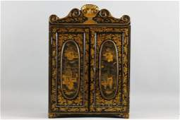Fine 18th c Chinese Chinoiserie Jewelry Chest