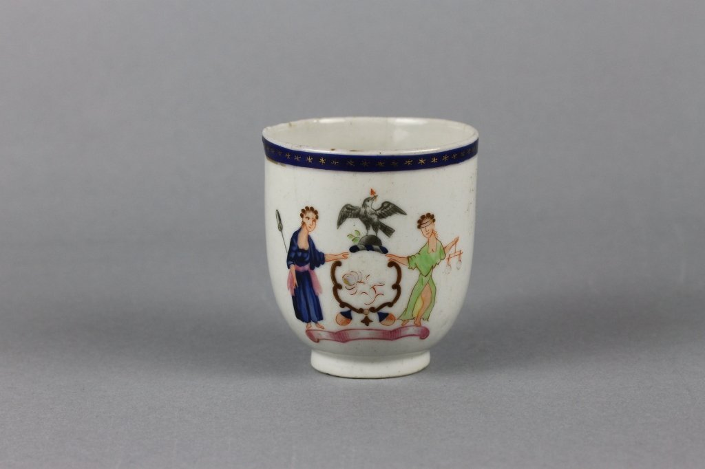 Chinese Export Armorial (Arms of New York) Cup