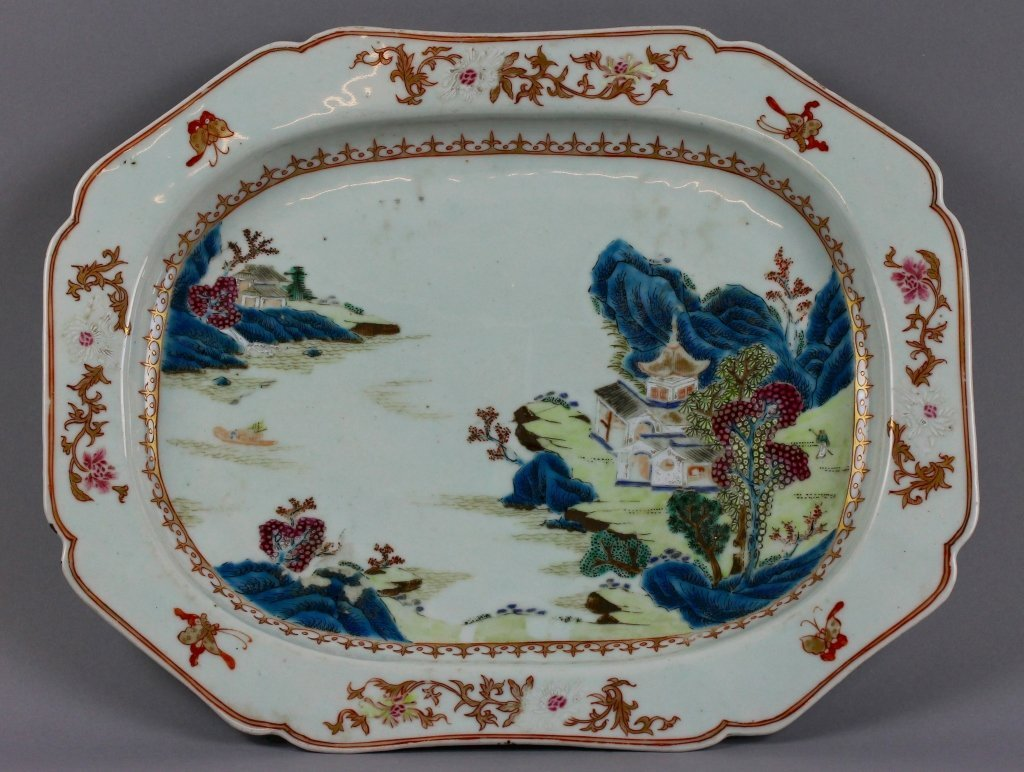 Fine Chinese Export Qianlong 18th century Platter