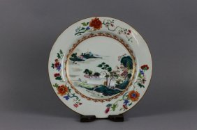 Chinese Export 18th Century Famille Rose Plate