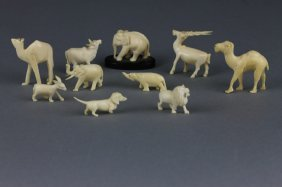 Ten Vintage Chinese Ivory Animals