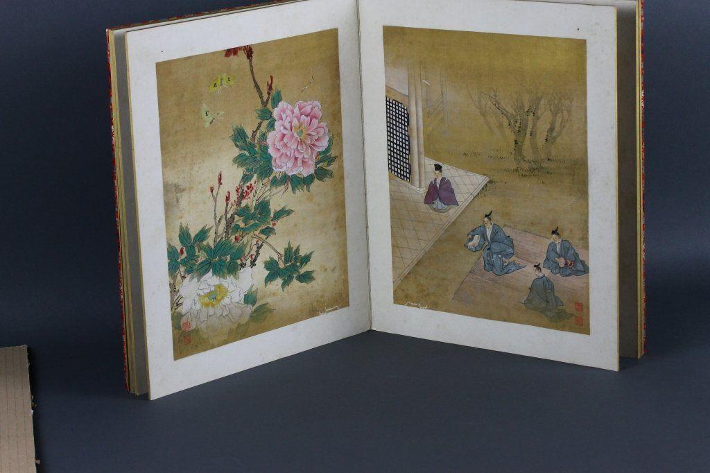 Twelve Antique Japanese Paintings in Book