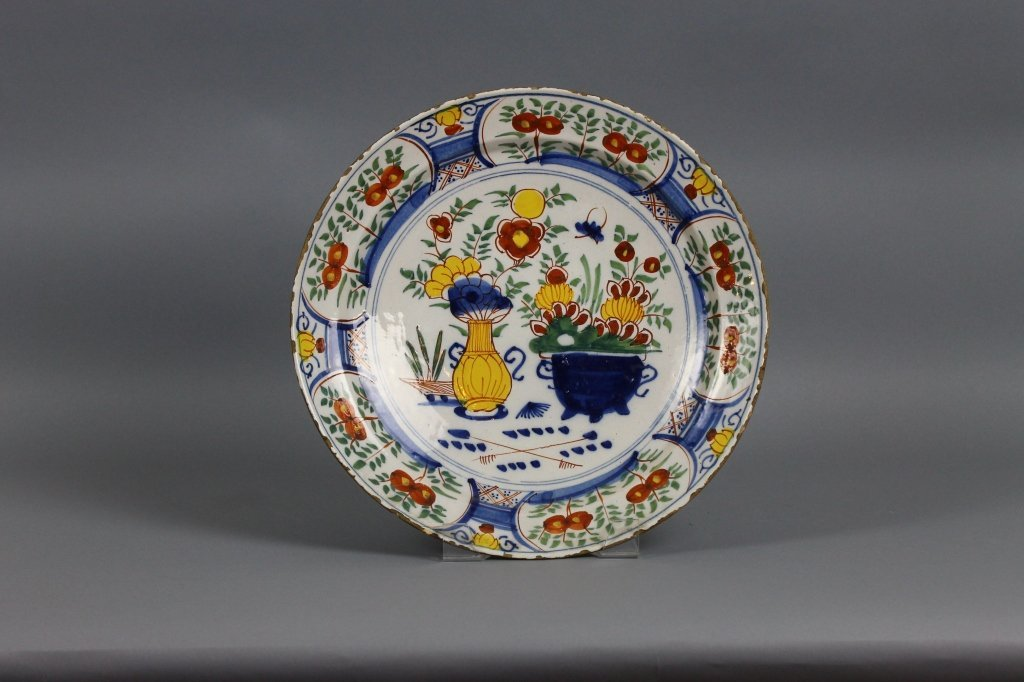 Dutch Delft 18th century Polychrome Charger