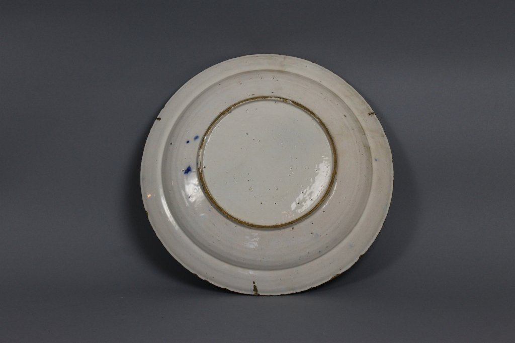Dutch Delft 18th century Polychrome Charger - 3