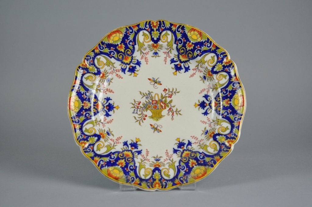 Antique Delft Faience Polychrome Charger