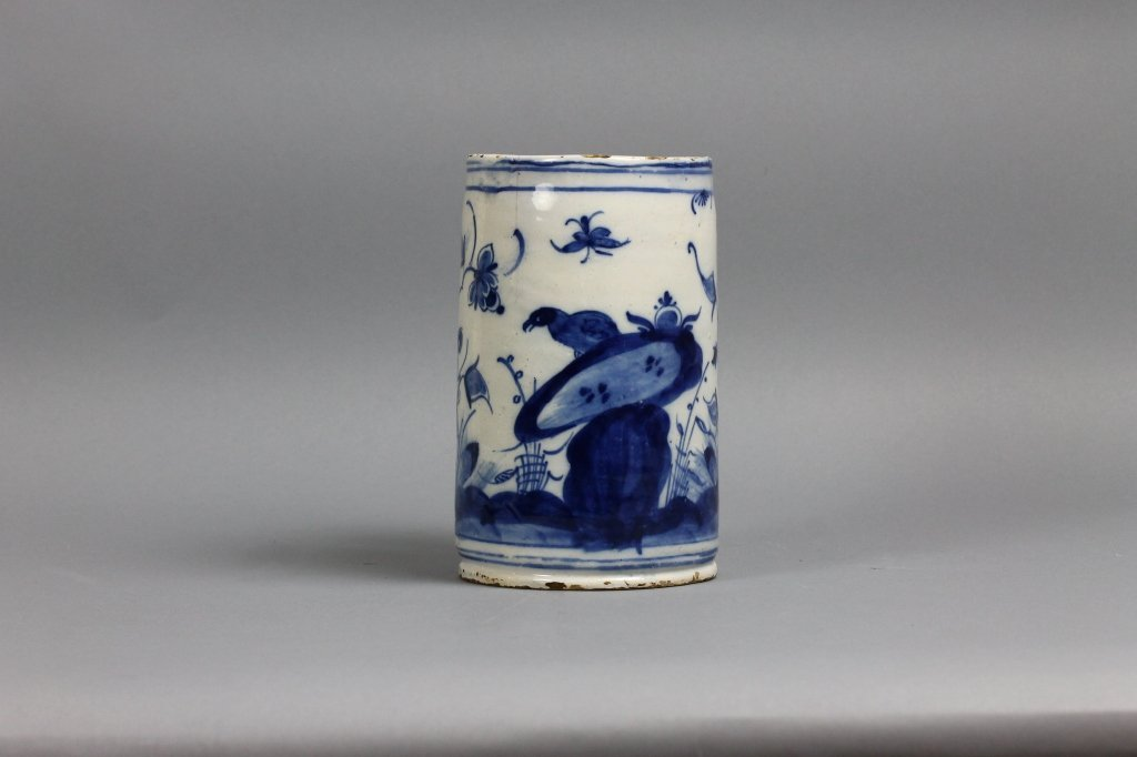 18th century Dutch Delft Blue and White Tankard