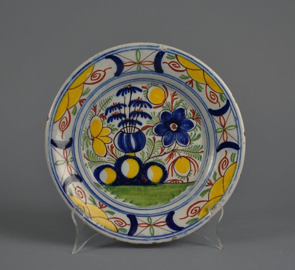 Dutch Delft 18th century Polychrome Plate