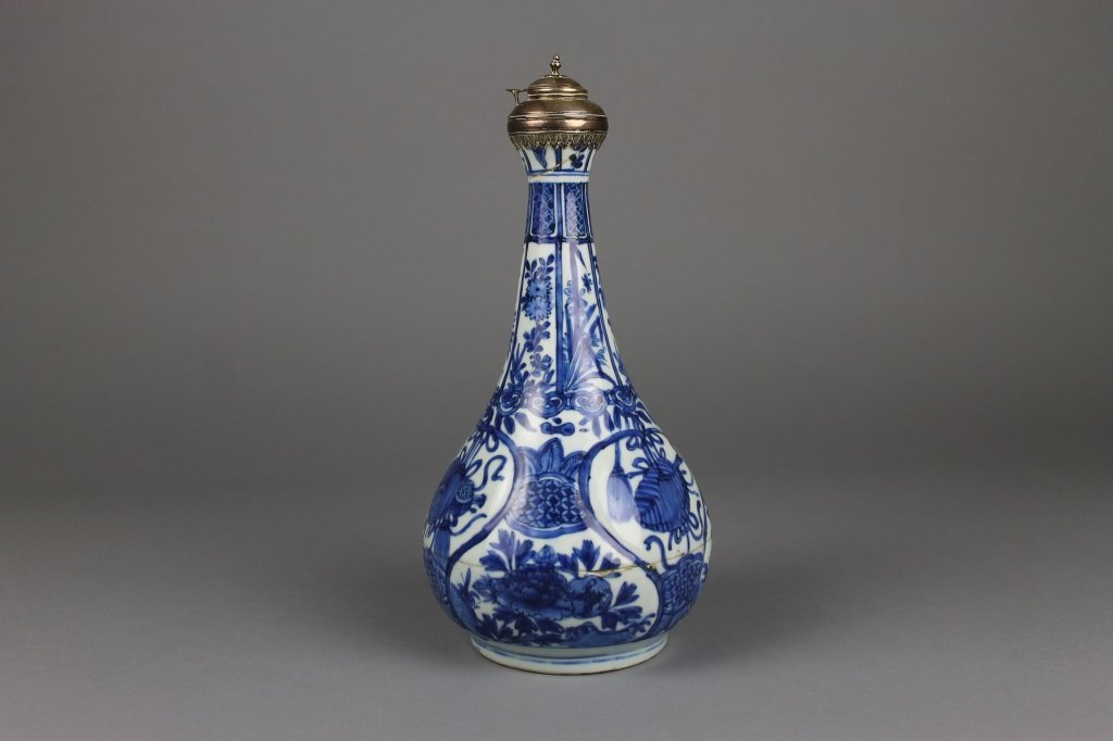 Chinese Wanli Period Vase with Silver Top