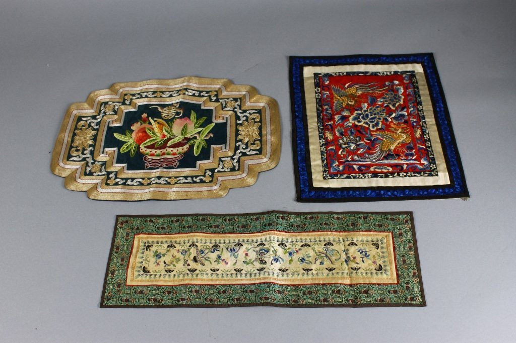 Three pieces of Vintage Chinese Textiles