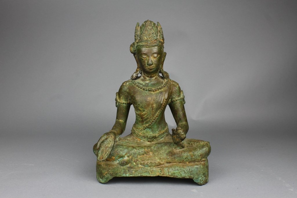 Antique Tibetan Bronze Buddha