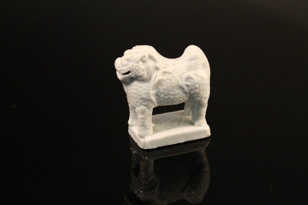 Rare Chinese 17th c. Blanc de Chine Kylin Dragon