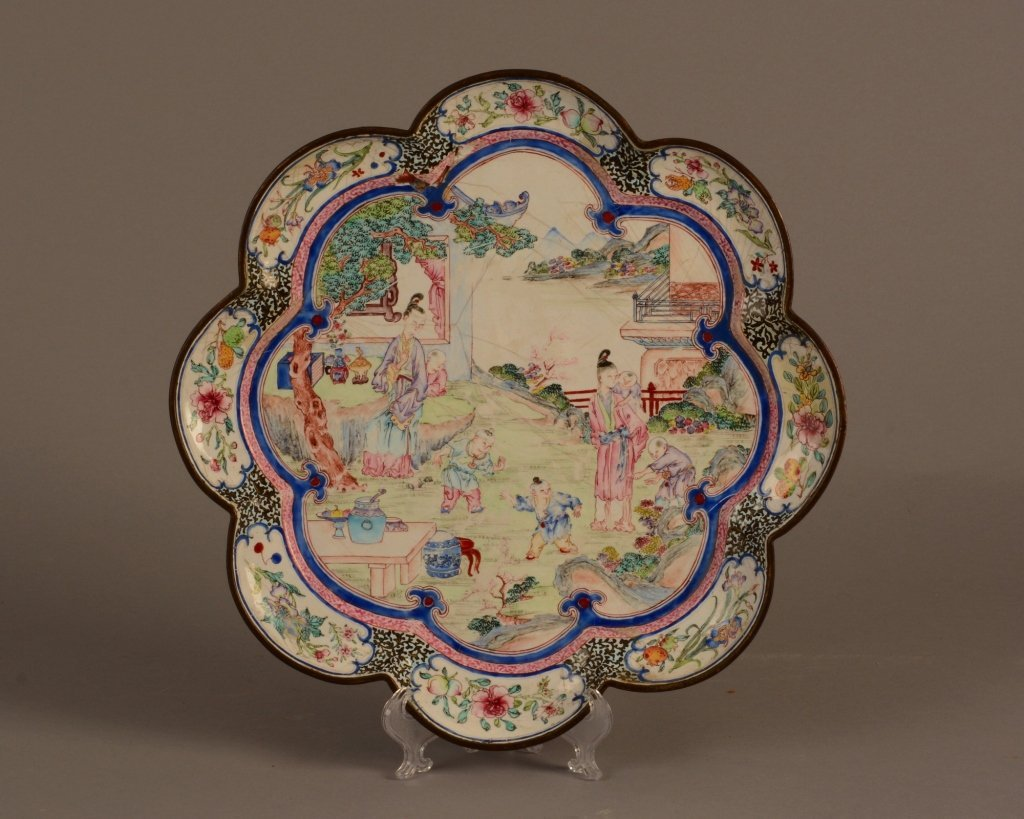Chinese Canton Enamel Chien Lung Tray c.1745