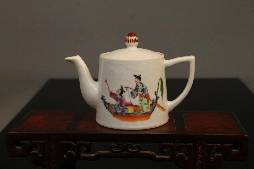 Chinese Famille Rose Jiaqing Mark & Period Teapot