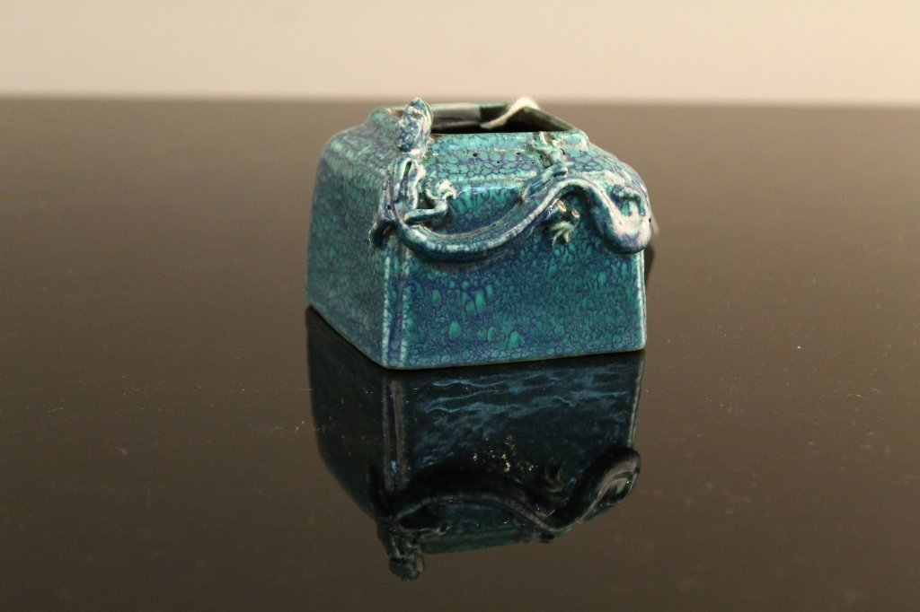 Chinese 19th c. Robins Egg Blue, Brush Washer