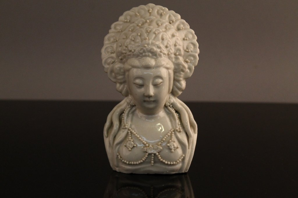 Chinese Blanc de Chine Guanyin Bust circa 1700