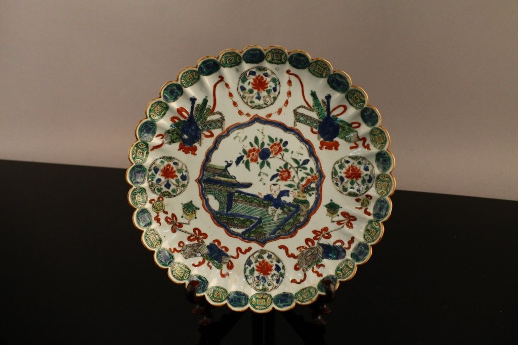 Chinese Famille Verte Lobed Plate C. 1685