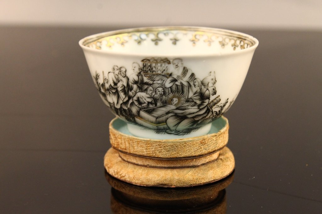 Chinese Grisaille Nativity Cup C. 1745