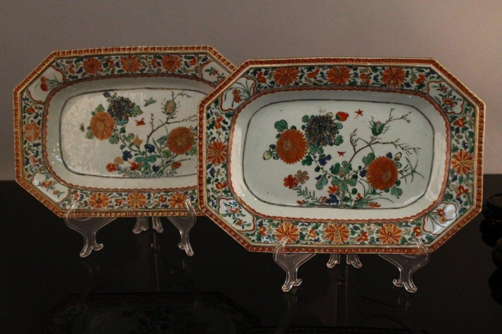 Pr. Chinese Famille Verte Kangxi  Platters C. 1690