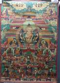 Chinese 16/17th century Signed Tibetan Thanka Chinese