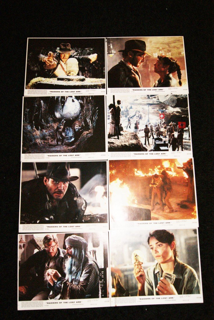 6: Set of 8 Raiders of the Lost Ark Lobby Cards