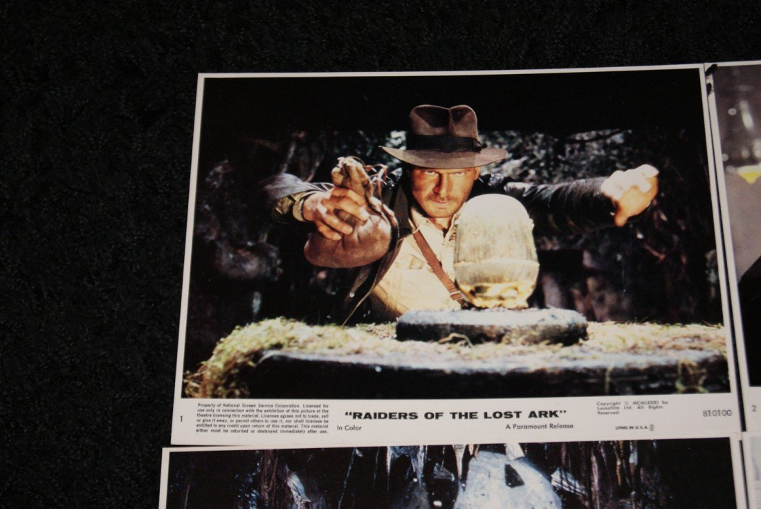 6: Set of 8 Raiders of the Lost Ark Lobby Cards - 2