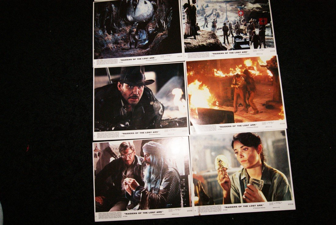 6: Set of 8 Raiders of the Lost Ark Lobby Cards - 3