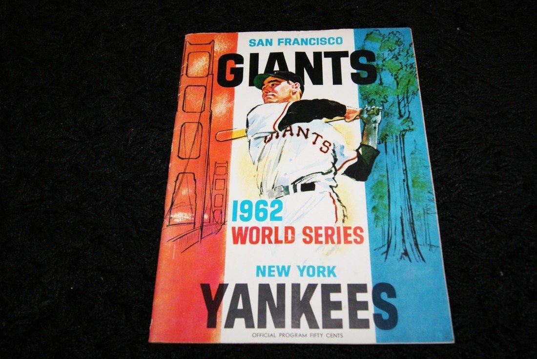 9: 1962 World Series Game 7 Yankees vs. Giants Program