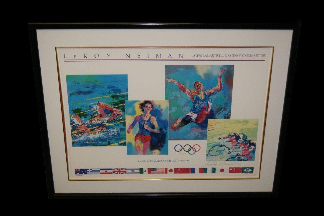 18: Leroy Neiman XXIII US Olympics commemorative poster
